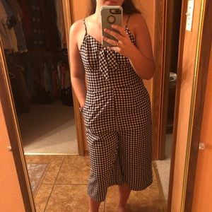 Checkered jumpsuit!